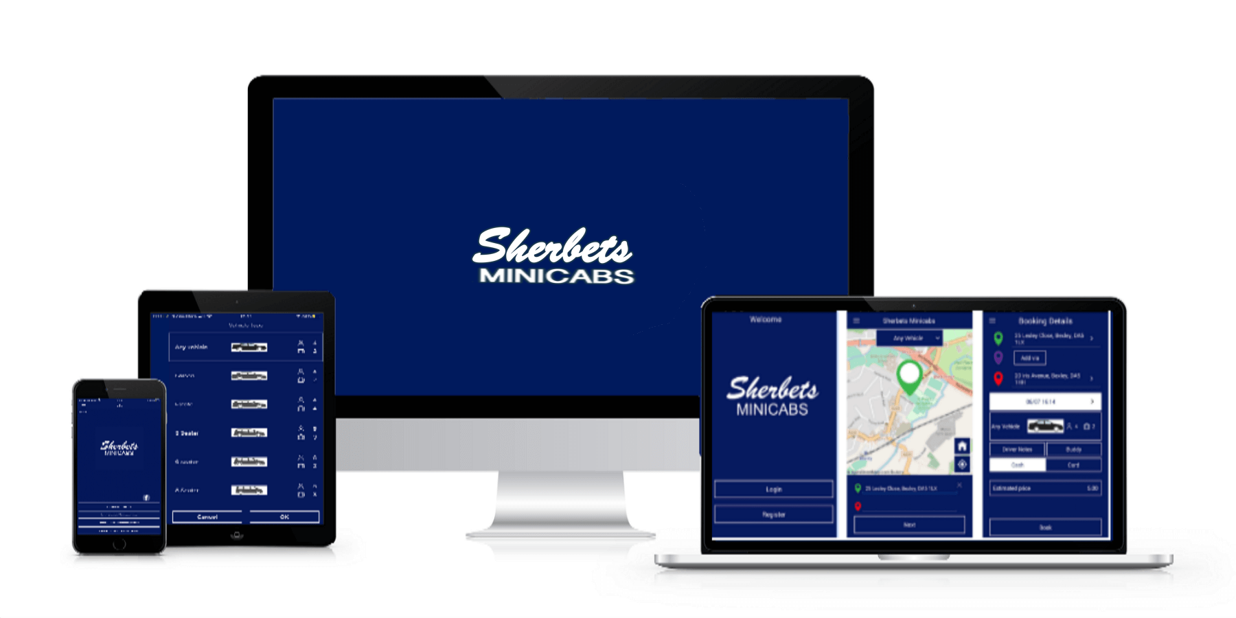 Download Our App - Sherbets Mini Cabs Near Me